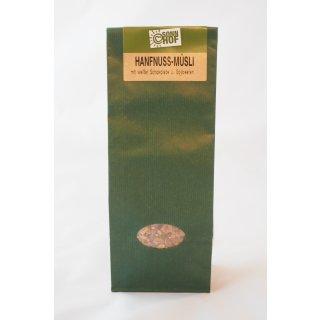 Hanfnuss Müsli mit weißer Schokolade & Gojibeeren 350 Gramm