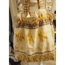 Einkaufstasche gelb gemustert