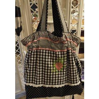 Einkaufstasche rosa/schwarz