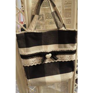 Kindertasche schwarz/weiß