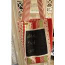 Einkaufstasche rot mit Tafelstoff